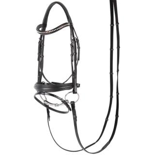 Harrys Horse Trense Soft Crystal schwarz mit Strass