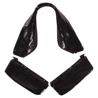 BR Kragen und Taschenklappen Tallinn mit Pailletten schwarz für Turniersakkos S