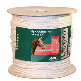 AKO EconomyLine Weidezaunseil 6mm Länge 500 m