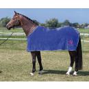 Harrys Horse Fleecedecke blau Shettydecke Fohlendecke Abschwitzdecke Wendedecke 80 cm
