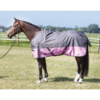Harrys Horse Outdoordecke Thor 200g grau-pink  Regendecke