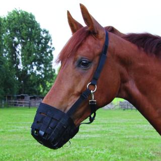 Waldhausen Fressbremse Maulkorb Fresshemmer schwarz Pony