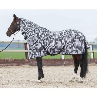 Harrys Horse Fliegendecke Zebra mit abnehmbarem Halsteil