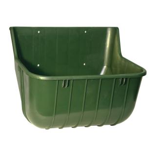 Kerbl Futtertrog Pferdetrog grün 15 l Kunststoff